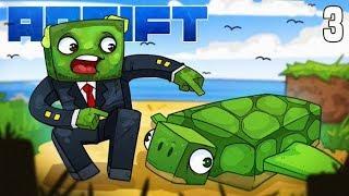 Minecraft: ADRIFT - WE MADE A FRIEND! (Ep.3)