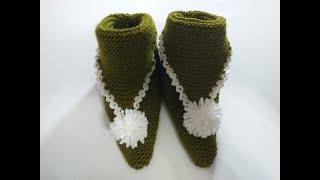 kare örgüden bot patik yapımı/patik modelleri/crochet/örgü tasarım