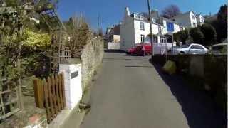 Cycling up Shutta Hill in Looe, Cornwall.  GoPro Hero 3