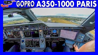 Awesome Cockpit View Airbus A350-1000 Full Taxi & Takeoff from Paris
