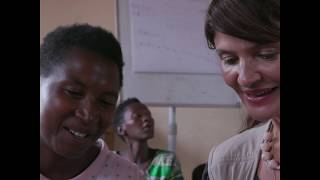 UNHCR High Profile Supporter and Model Helena Christensen meet Women refugees in Mahama   Made 51 In
