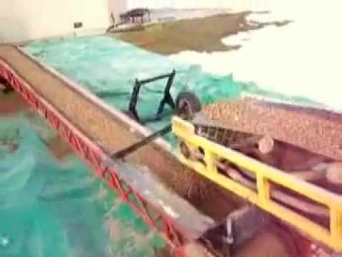 dirt and rock belt conveyor: the fast way to excavate or back fill a  basement