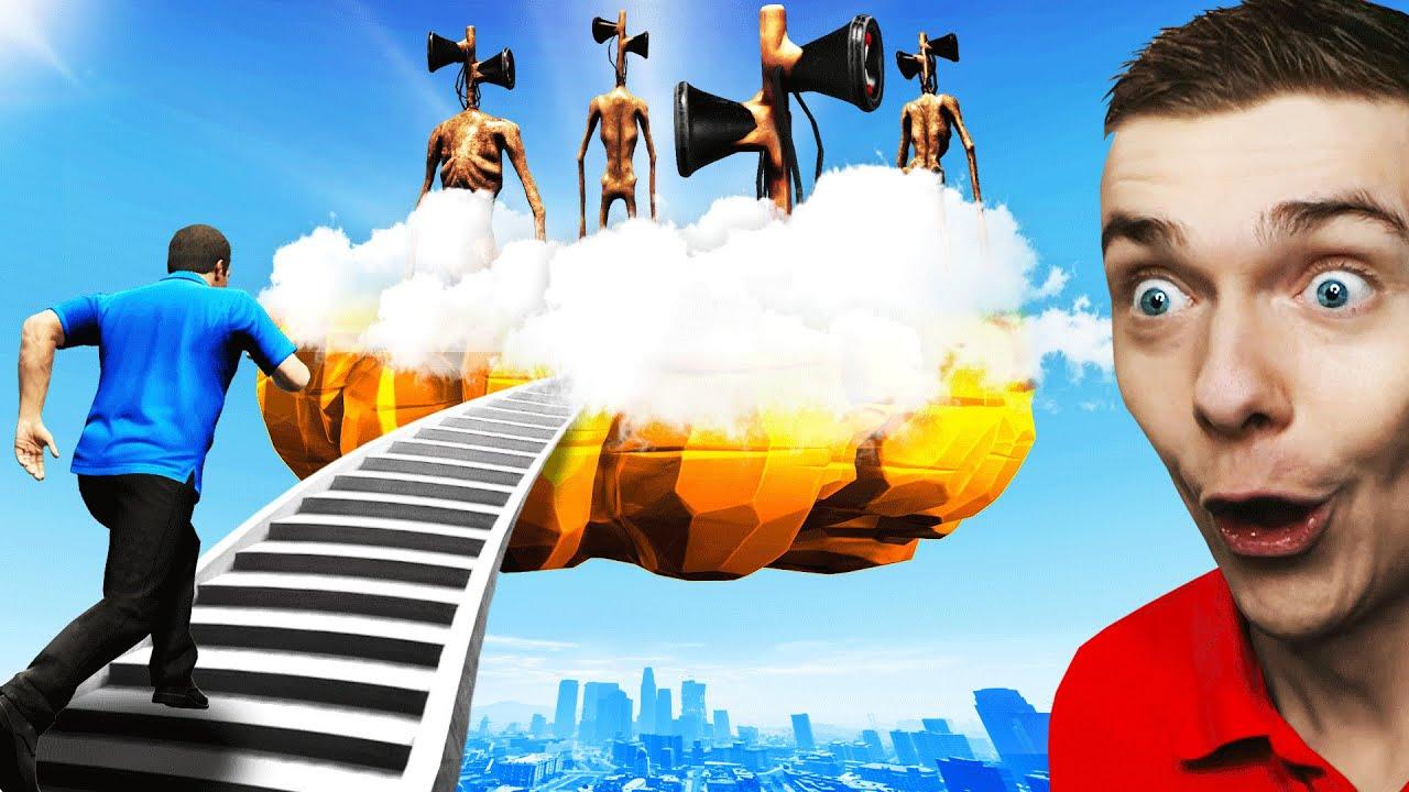 Stairway To SIREN HEAD HEAVEN In GTA 5