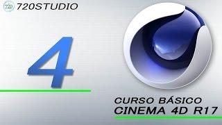 Curso Básico Cinema 4D R17 Parte 4 - Tutorial para Principiantes - En Español