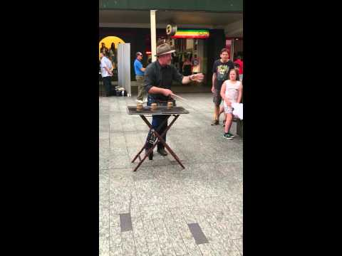 James the Magician on Queen Street, Brisbane, Australia