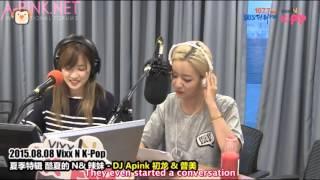 [APINKSUBS][150808] SBS PowerFM VIXX N K-Pop - DJ Chorong & Bomi