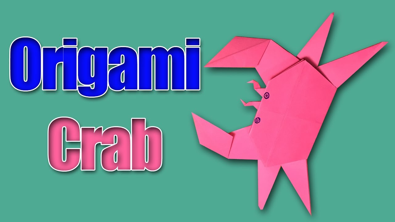 how to make origami crab step by step paper crab