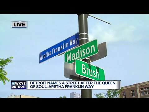 Detroit street renamed Aretha Franklin Way