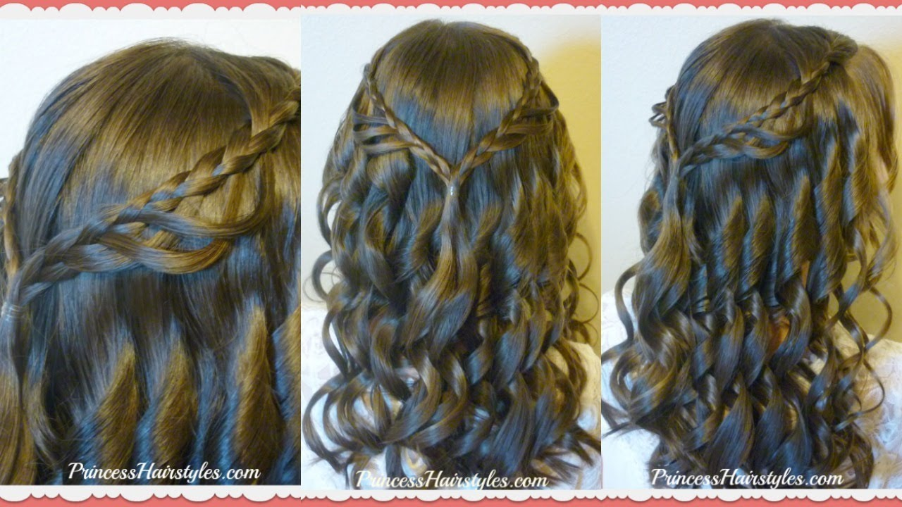 8th grade dance hairstyle tutorial and dress! princess hairstyles