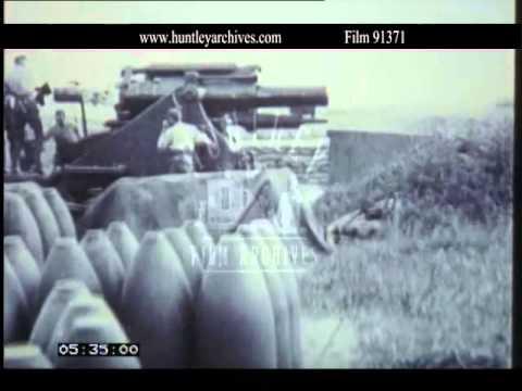 World War One artillery drama.  Archive film 91371