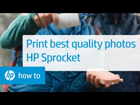 HP Sprocket Photo Printers - How to Print Best-Quality Photos