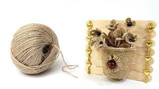 DIY Jute Showpiece   Jute Crafts   Crafts Junction