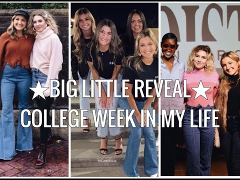 COLLEGE WEEK IN MY LIFE // big little reveal
