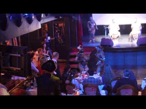 """Афро Бенс Корпоративный праздник Гос Строительной Компании-Ресторан фрегате """"Благодать"""" 27 декабря 2013"""