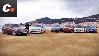 Prueba comparativa Compactos coches.net: Peugeot 308, Focus, i30, Mégane, Golf, León - Review (2014)