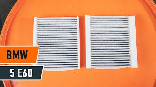Air conditioner filter installation BMW 5 SERIES: video manual