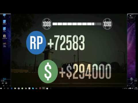 GTA5 ONLINE-How to get fast RP and Money with Cheat Engine