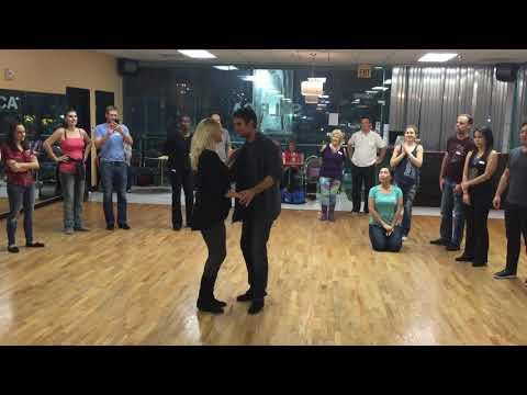 West Coast Swing Michael Kielbasa and Lisa D'Amico 1st 3 parts to music.