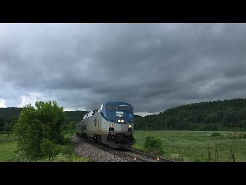 Amtrak across Vermont Spring/Summer 2016 - Vermonter & Ethan Allen Express in every VT town
