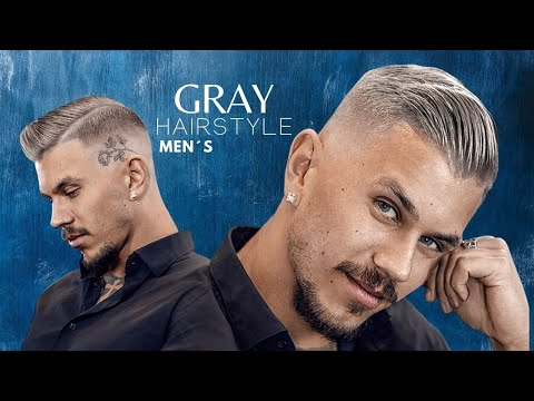 Amazing Hair Color TRANSFORMATION - GRAY hairstyle for men