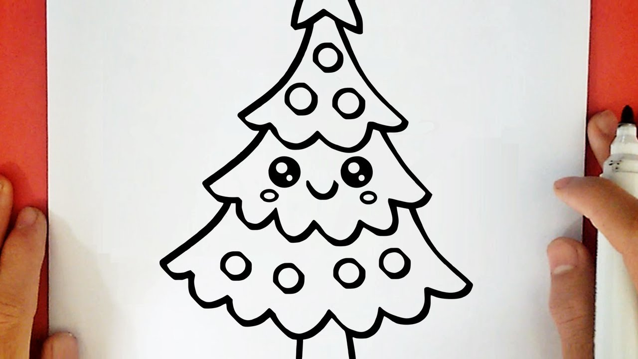 COMMENT DESSINER UN SAPIN DE NOËL KAWAII   YouTube