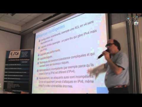 Conférence IPV6 et Sécurtié à l'ESGI par Stéphane BORTZMEYER