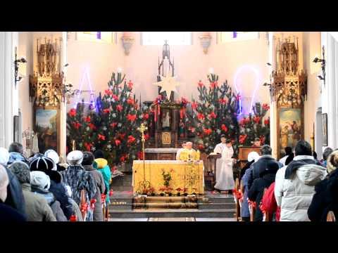 Рождественская служба в костеле