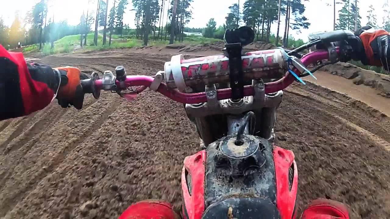 ||GoPro HD|| Motocross on nearby track Honda CRF230F