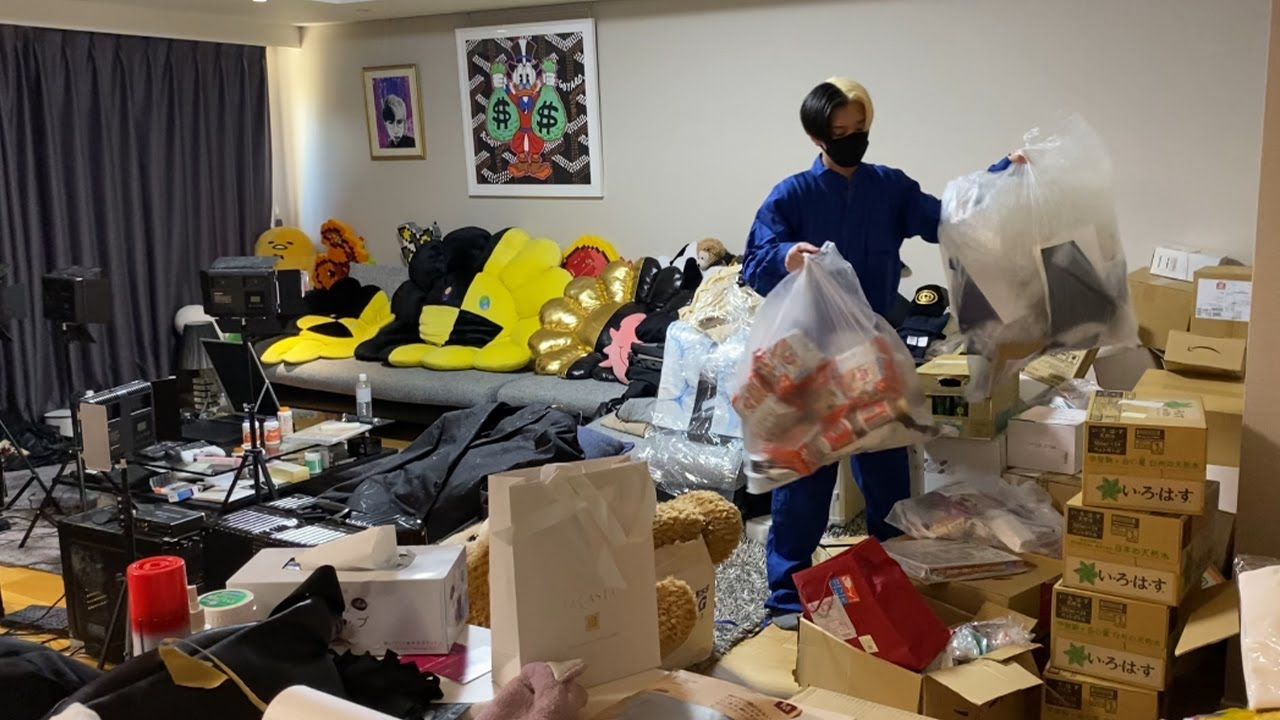 【鬼の大掃除】ヒカル宅の要らないもの全て買取処分してもらったら1日がかりでエグい量のゴミ出てきた…