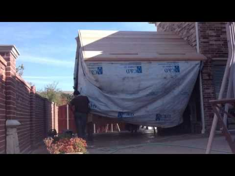 Patio Roof Cover One Day Build - Time Lapse