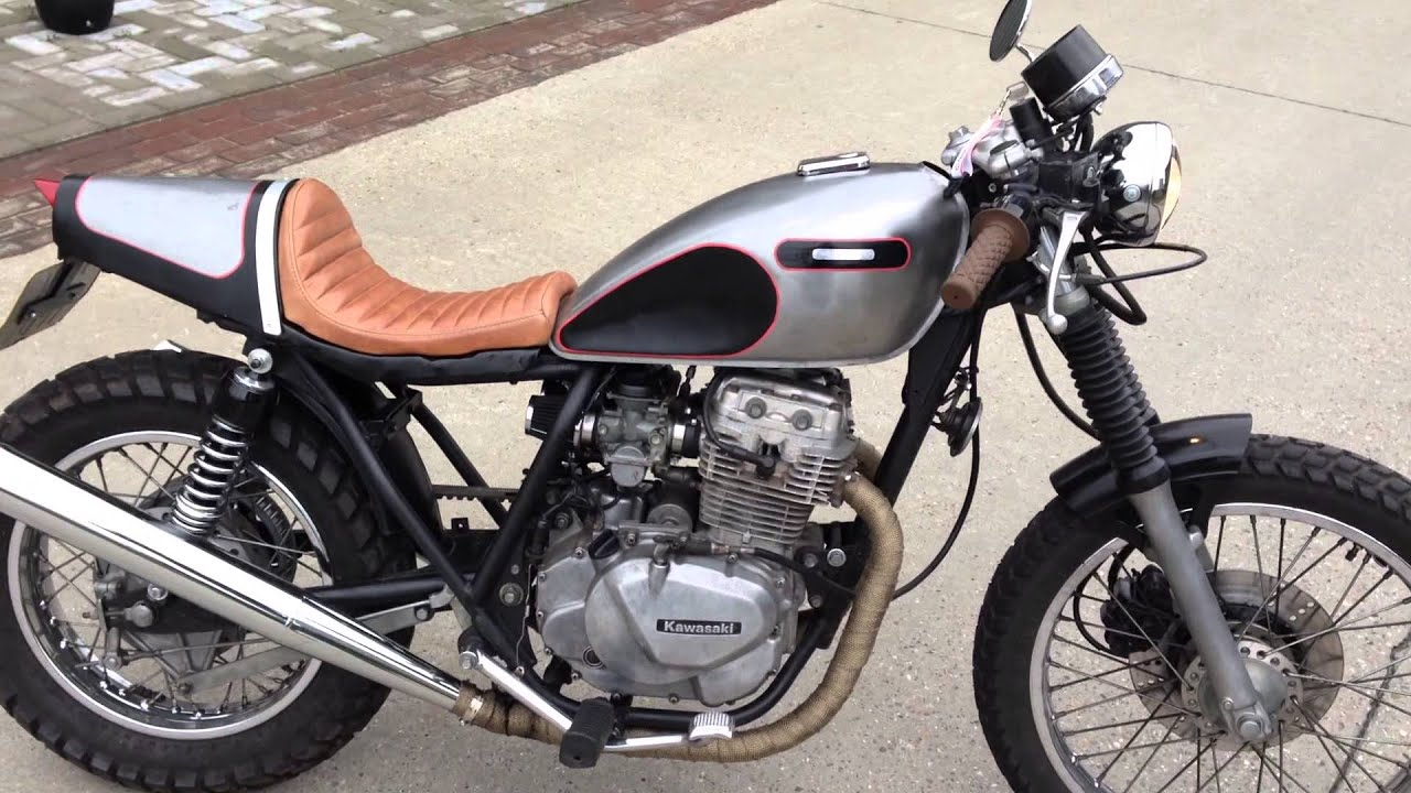 Kawasaki LTD 305 '89 - Cafe Racer - Scrambler - t - YouTube
