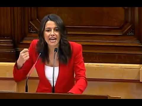 Arrimadas Desnuda Al Raza Superior Quim Torra Y A Todos Los Lazis Amarillos En Parlament Cataluña