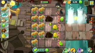 Pirate Seas Day 15 - Plants vs Zombie 2 Walkthrough