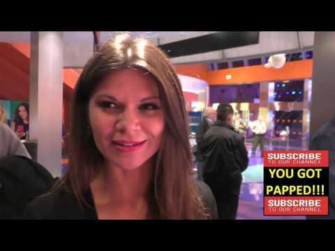 Danielle Vasinova talks about her Oscar Award picks at the Premiere Of Monday At 1101 A M  at AMC Un
