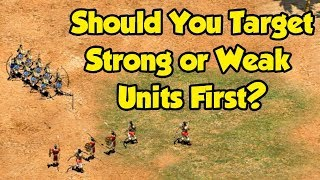 Should You Target Strong or Weak Units First?