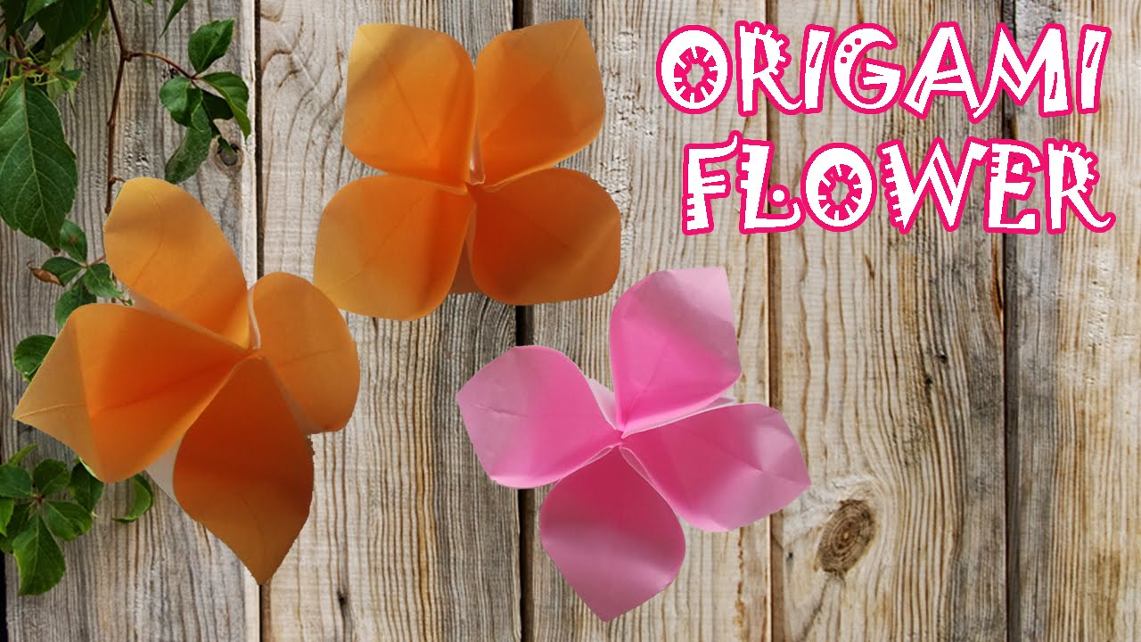 Origami Flower Very Easy Origami Easy Youtube