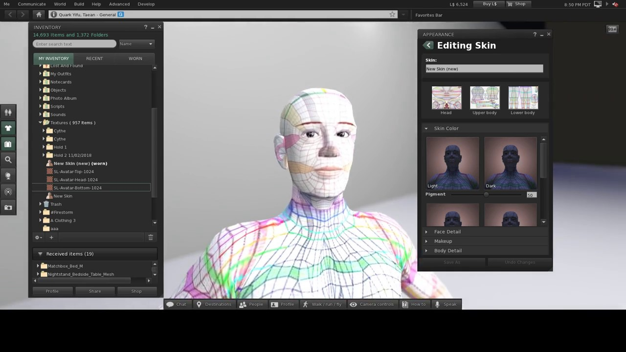 Making a Skin for Second Life in 5 Minutes
