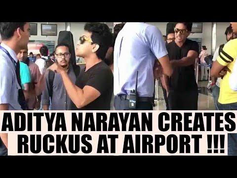 Aditya Narayan threatens & yells at Airport authority in Raipur; Watch Video   FilmiBeat