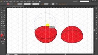 How to draw ISOMETRIC HEMISPHERE in Adobe Illustrator - Tutorial #9