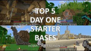 Top 5 Day one Starter Bases (Hermitcraft Season 7)