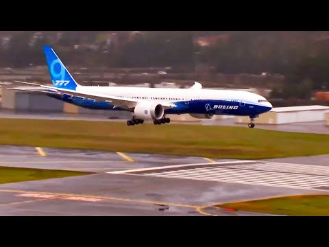 Boeing 777X Full Landing And Press Conference