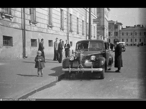 МОСКВА 1937-1940. Прогулка по Садовому Кольцу на автомобиле