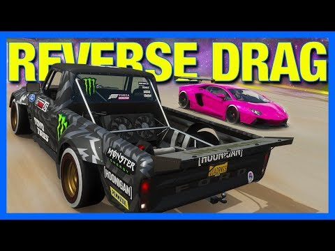 Forza Horizon 4 Online : BACKWARDS DRAG RACING!!