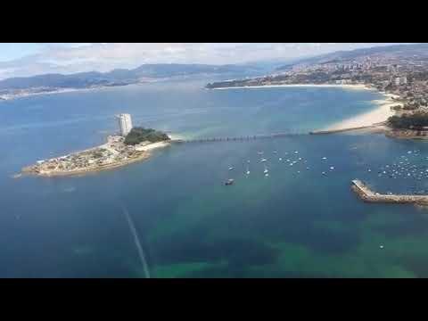 Así se vigilan los arenales de Vigo desde el aire