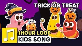 HALLOWEEN SONG - TRICK OR TREAT 1 HOUR LOOP LARVA KIDS | SUPER BEST SONGS FOR KIDS |  HALLOWEEN SONG