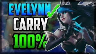 Best Way To 1v9 Carry On Evelynn CONSISTENTLY💯 UNRANKED TO CHALLENGER | Episode 8