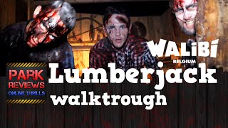 NEW! Lumberjack (walktrough) -  Walibi Belgium 2015 #hlw15