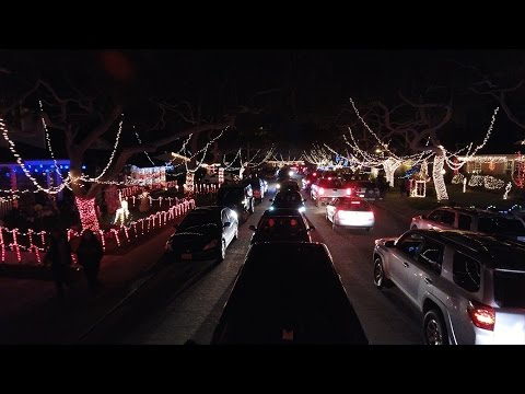 DRONE VIEW OF CANDY CANE LANE | TORRANCE, CA