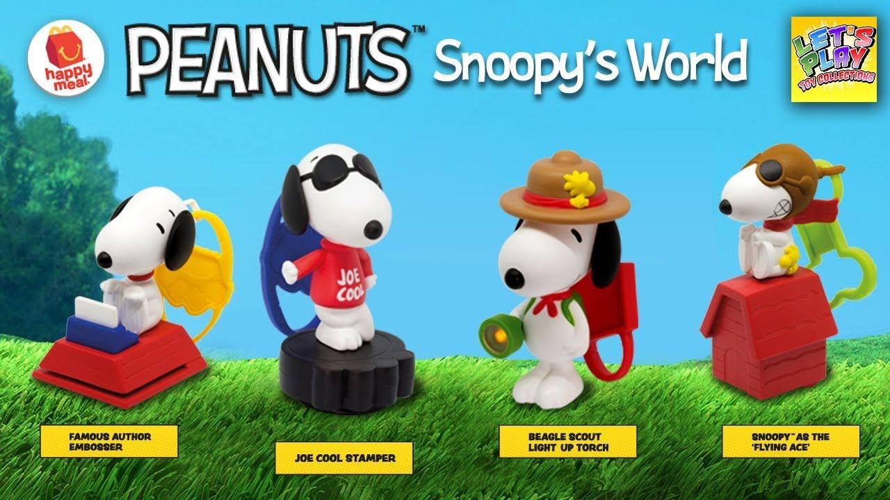 8fe8d954f3 2018 PEANUTS Snoopy s World McDonald s Happy Meal Toys - YouTube