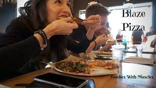 Our First TIME trying Blaze Pizza / Foodies with Muscles Ep. 3
